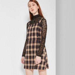 Wild Fable Plaid Button Dress